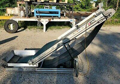 Crizaf Lt3 Adjustable Incline Cleated Rubber Belt Conveyor 18 X 97