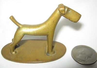 ANTIQUE WHW HAGENAUER ART DECO AUSTRIAN BRONZE TERRIER DOG DESK STATUE SCULPTURE for sale  North Grosvenordale