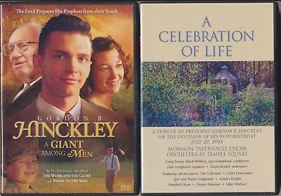2 DVD Lot Gordon B. Hinckley A Giant Among Men Celebration Of Life 95th