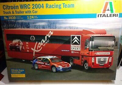 CITROEN WRC 2004 RACING TEAM TRUCK TRAILER WITH CAR ITALERI 1/24
