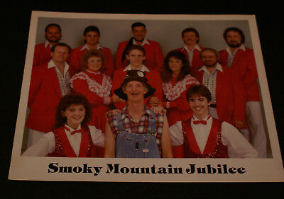 """Smoky Mountain Jubilee Group 8"""" x 10"""" Color Promotiona Photo Vintage VG++"""