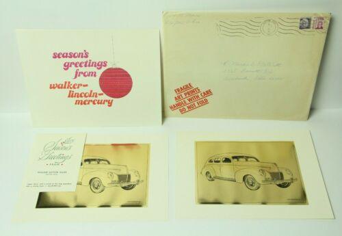 1968 Lincoln Mercury Auto Car Dealership Advertising Christmas Card Art Prints