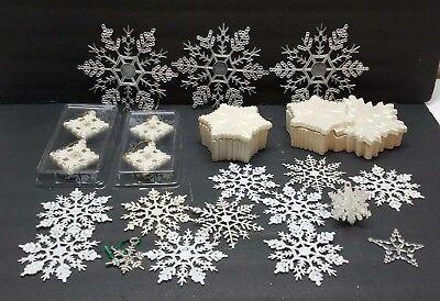 Vintage Christmas Tree Ornaments Decoration Snowflake Plastic Ceramic Snow Flake](Snow Flake Decorations)