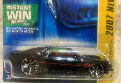 Hot Wheels 2007 - NEW MODELS - '69 FORD MUSTANG - BLACK - OH5 SPK - INSTANT WIN
