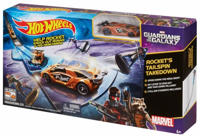Hot Wheels Marvel Guardians of the Galaxy Car Race Track Rocket Ages 4+ Boys Fun