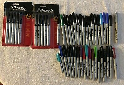 Sharpie Markers - Lot Of 48. Mix Of New And Slightly Used - Tested