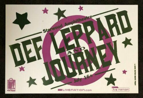 Def Leppard & Journey Hatch Show Print Concert Poster @ Starwood, Nashville 2006