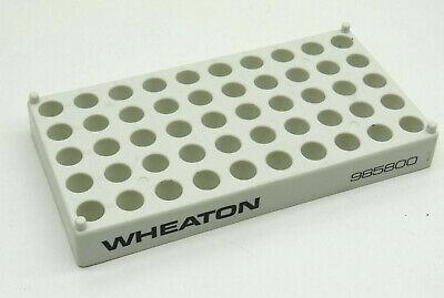 Wheaton 985800 White Plastic Vial Rack