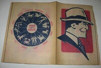 RARE Vintage 70's Zodiac Dick Tracy Chicago Tribune Iron-On T-Shirt Transfer
