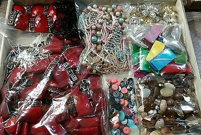 LARGE Lot Vintage/Contemporary Jewelry Pieces Findings Beads Parts for Crafts #4