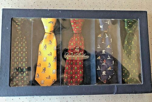 Brooks Brothers Holiday  Tie Box For Decorative USE ONLY Not for Children NWTS