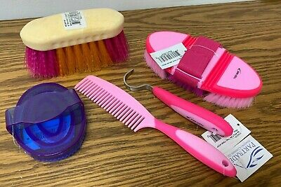 Pink All Sizes Roma Plastic Sarvis Unisex Horse Care Curry Comb