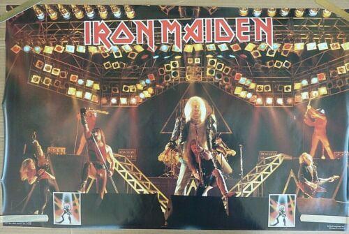 RARE IRON MAIDEN STAGE 1982 VINTAGE ORIGINAL MUSIC POSTER