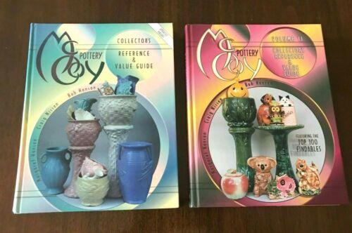 McCoy Pottery Book LOT OF 2, Vols. 1 & 2, COLLECTOR BOOKS, illus. HC