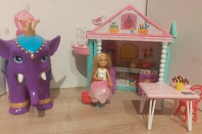 Barbie Chelsea Clubhouse And Elephant With Doll And Accessories Bundle