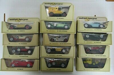 Lot of 13 1978 Matchbox Models of Yesteryear Cord Auburn Rolls Royce Jaguar....