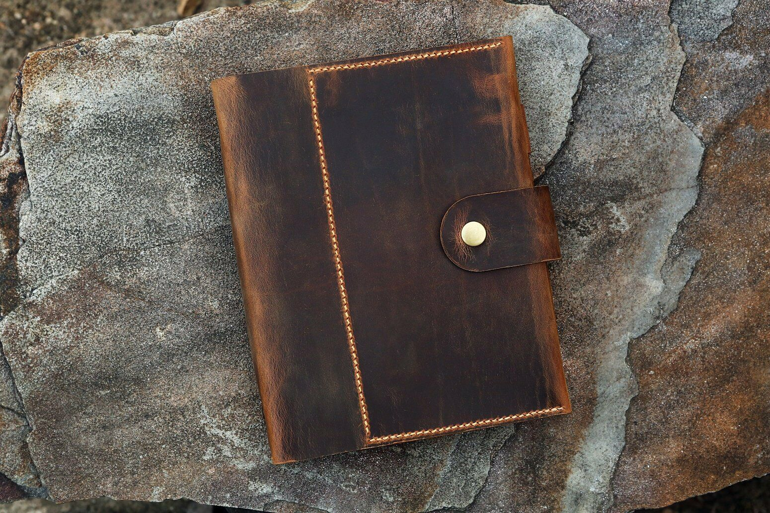 Personalized A5 Leather notebook planner / Refillable leathe