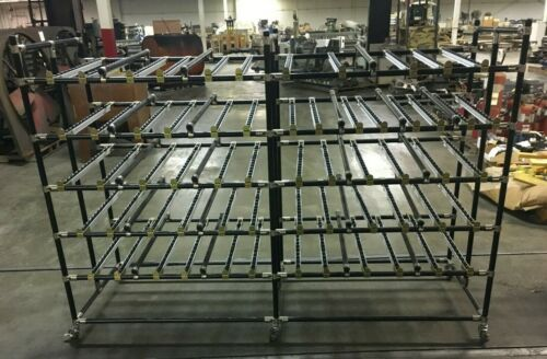 Creeform Pick to Light Rolling Gravity Flow Roller Rack Shelving Unit