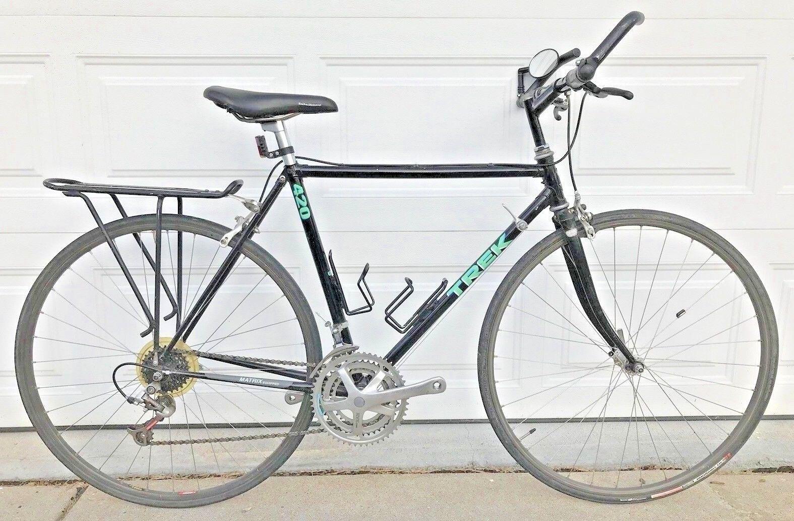46bcffbe069 Trek 420 Flat Bar Road Hybrid Bike True Temper Lugged Frame USA