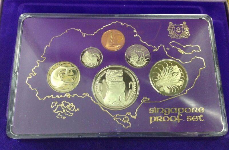 1978 SINGAPORE PROOF SET IN ORIGINAL CASES WITH COA