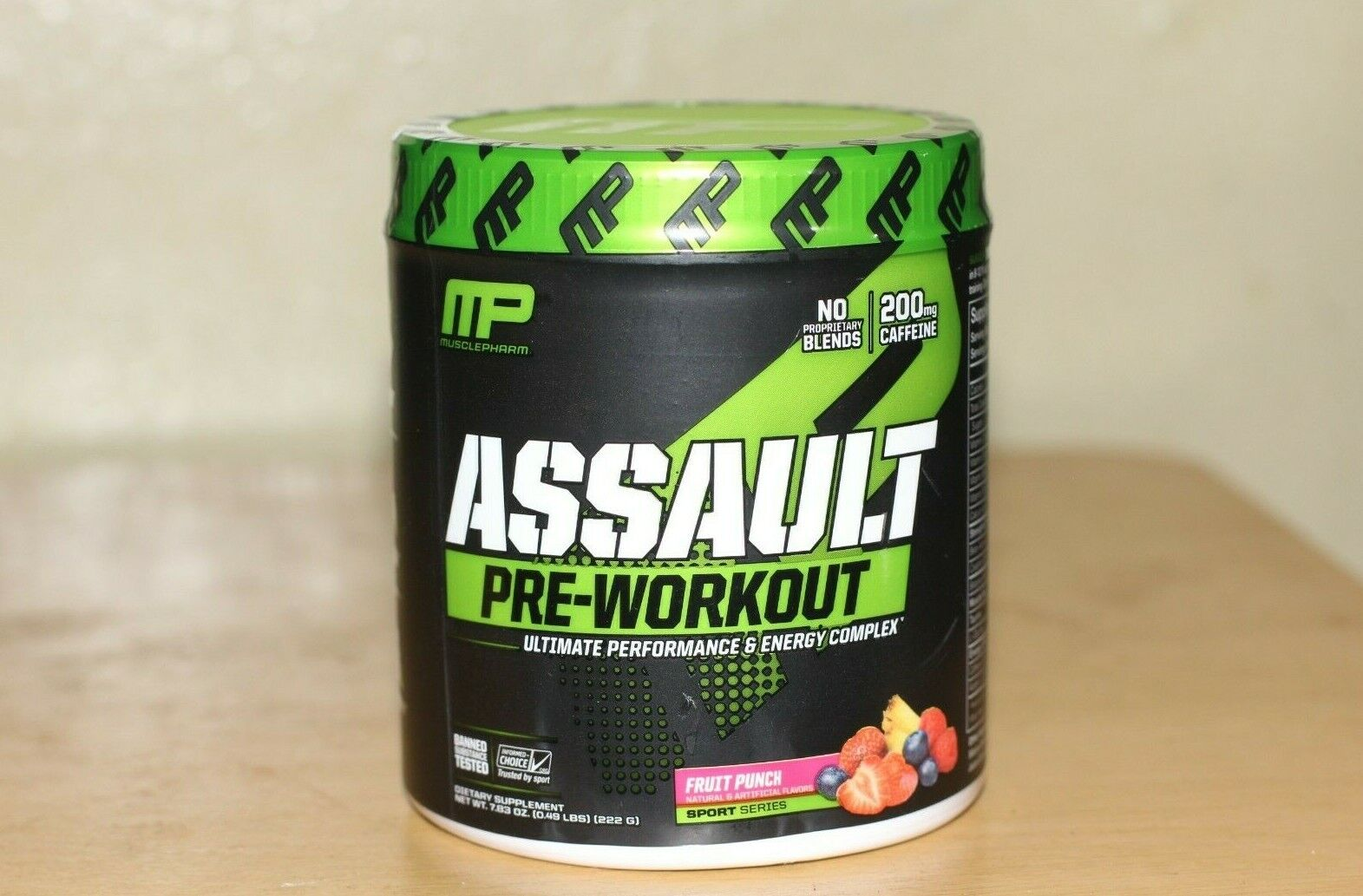 MusclePharm Assault Sport Nutrition Powder, Fruit Punch, 30