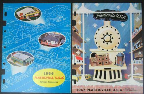 VINTAGE 1966 & 1967 PLASTICVILLE CATALOG  BACHMANN BROS OSS OF LOCAL DISTRIBUTOR