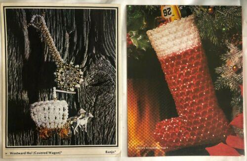 2 Beading Patterns Books Beaded Fantasies V 5 & Jingle Bead Christmas Ornaments