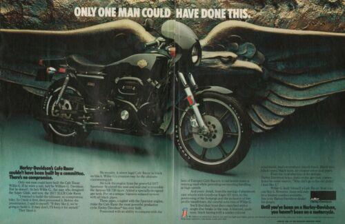 1977 Harley-Davidson XLCR Cafe Racer - 2-Page Vintage Motorcycle Ad