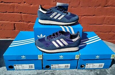 Deadstock adidas  Dark Blue New york Originals Retro Terrace Trainers size uk 4