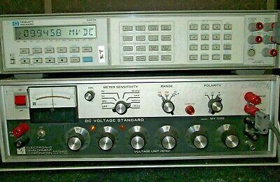 Edc Mv106 Dc Voltage Standard Tested 0.1uv To 10 V Six Decades Krohn-hite Mv106