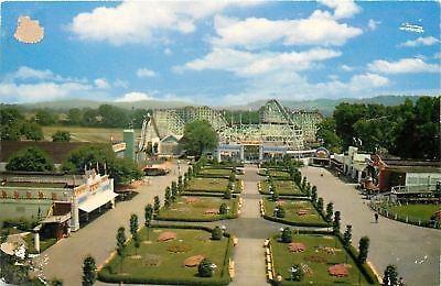 Cincinnati OH Coney King's Island: Roller Coaster~Shops Along Mall~1953 (Cincinnati Mall Cincinnati Oh)