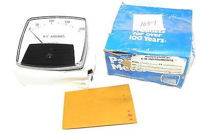 Nib General Electric Model 250 Panel Meter Dial 0-200 A-c Amperes