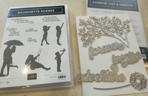 Stampin Up Bundle - Silhouette Scenes, Sweet Silhouettes Dies - New