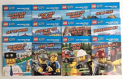 Lego City Childrens Books Phonics Fun Learning to Read Early Readers Lot 12