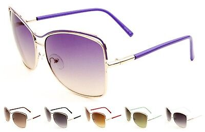 Wholesale 12 Pair Metal Sunglasses with Fancy Contour Top Bar Oceanic Color Lens