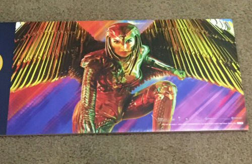"Wonder Woman 1984 Promotional Movie Store Display Sign Promo Ad 30"" x 12"""