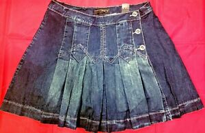 eb9d15c0bf8a3 Venezia by Lane Bryant Pleated Jeans Skirt with Shorts Underneath- Size 18