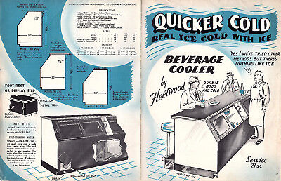 Fleetwood Service Bar Beverage Cooler Vintage Illustrated Brochure Specification