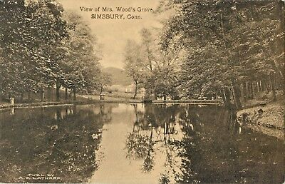 A View Of Mrs Woods Grove  Simsbury  Connecticut Ct 1911