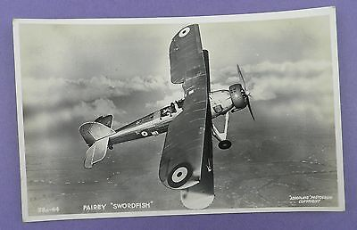 Fairey Swordfish - Vintage Unused Aviation Postcard