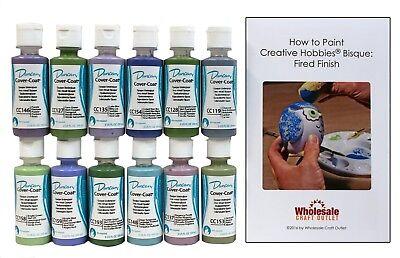 - Duncan CCKIT-6 Cover-Coat Opaque Underglaze Paint Set, 12 Cool Colors - 2 oz
