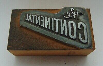 Vintage Printing Letterpress Printers Block The Continental