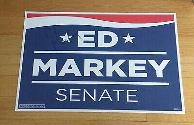 Ed Markey Senator Massachusetts Signed Autograph 2020 Campaign Sign TOUGH