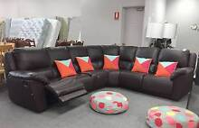 DELIVERY TODAY BIG GENUINE LEATHER RECLINER L shape corner sofa Belmont Belmont Area Preview