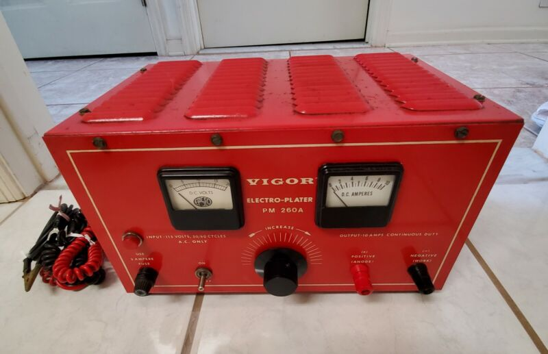 Vigor Electro-Plater PM 260A For Gold Plating Jewelry