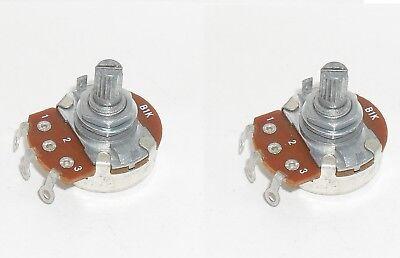 Pack Of 2 B1k Potentiometer Linear Pot 1 Kohm Panel Mount