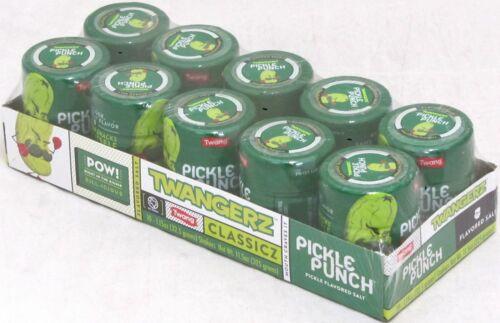 Twang Twangerz Pickle Punch Salt Bulk 10 Ct Snack Topping 1.15oz Shakers Popcorn