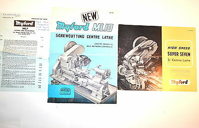 Myford High Speed Super 7 Center Lathe Ml10 Screwcutting Lathe Brochures Rr859