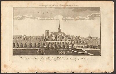 1779 ca ANTIQUE PRINT- SUSSEX - PERSPECTIVE VIEW OF THE CITY OF CHICHESTER
