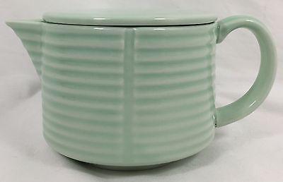 "Thomas O' Brien ""VERANDA"" Teapot for Two w/ Lid *Mint Green* 16-Ounce 2003 2-Cup"